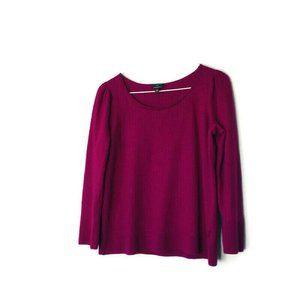 Talbots Plus Purple Pure Merino Wool Sweater